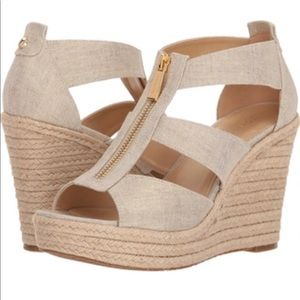 Micheal Kors Damita Wedge Platform Sandals